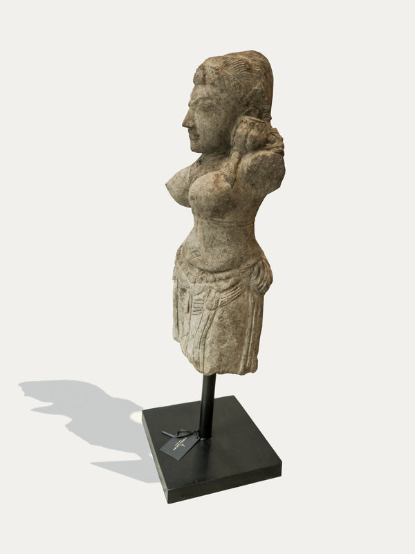 Hand Carved Standing Siwa Statue From Java - kirschon