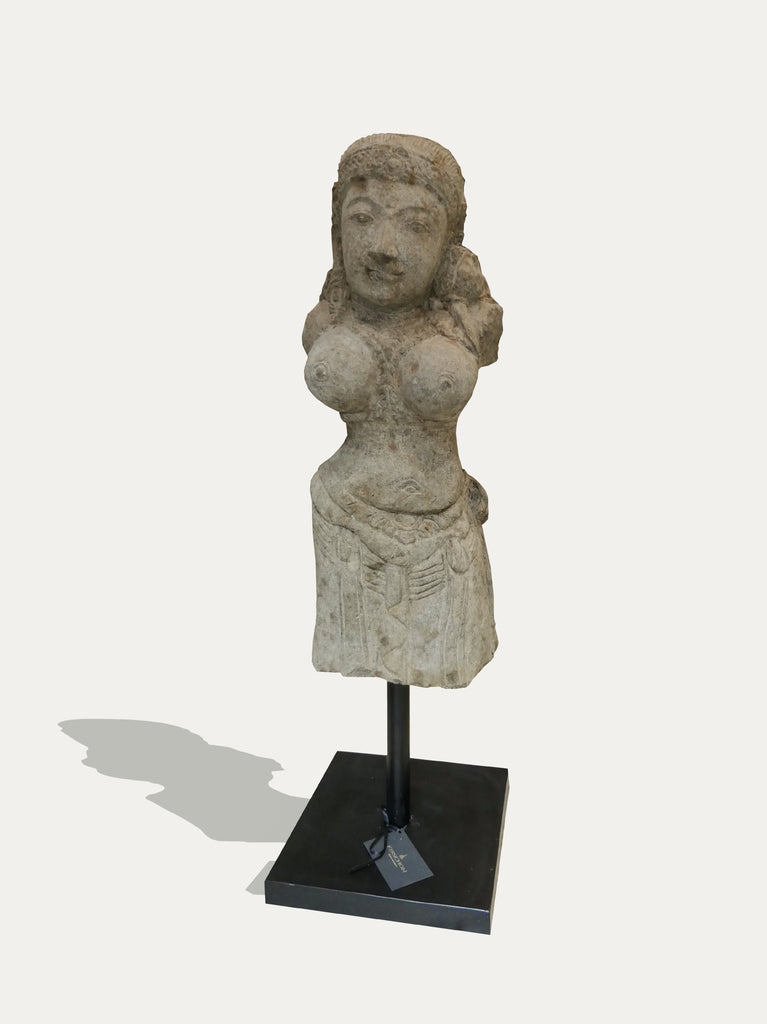 Hand Carved Standing Siwa Statue From Java