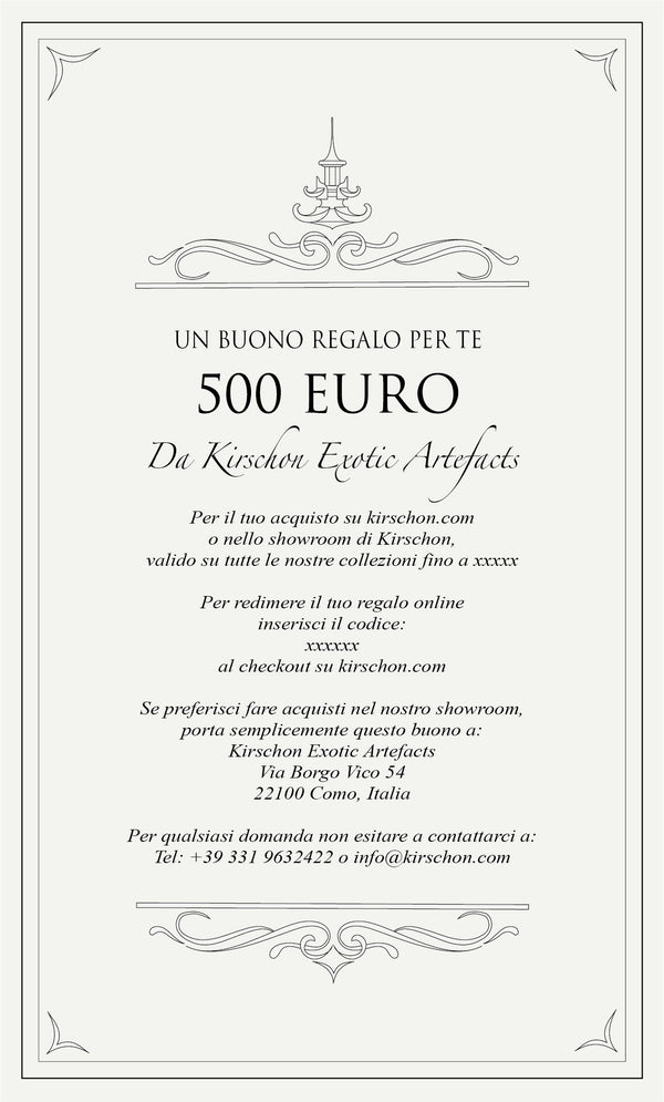 Virtual Gift Card - 500 Euro - kirschon