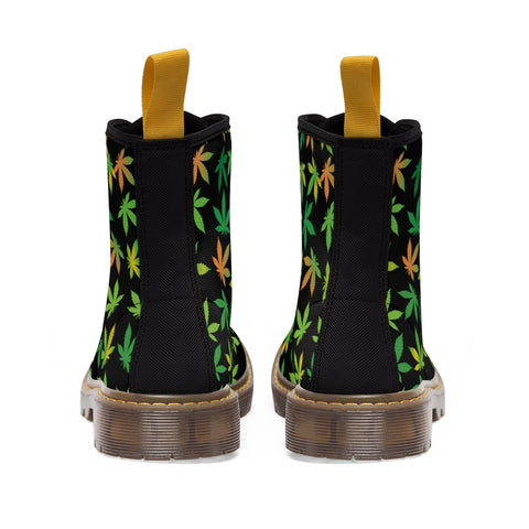 Boots With Leaves