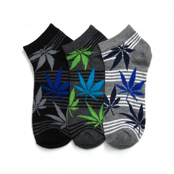 12 Pairs Marijuana Leaf Cannabis Ankle Crew Low Cut Socks