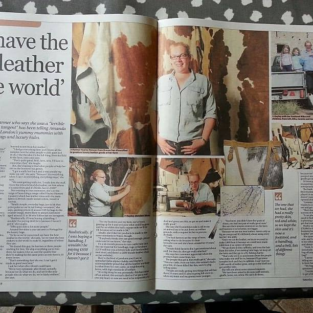 Hayley Hanson in Western Mail Magazine
