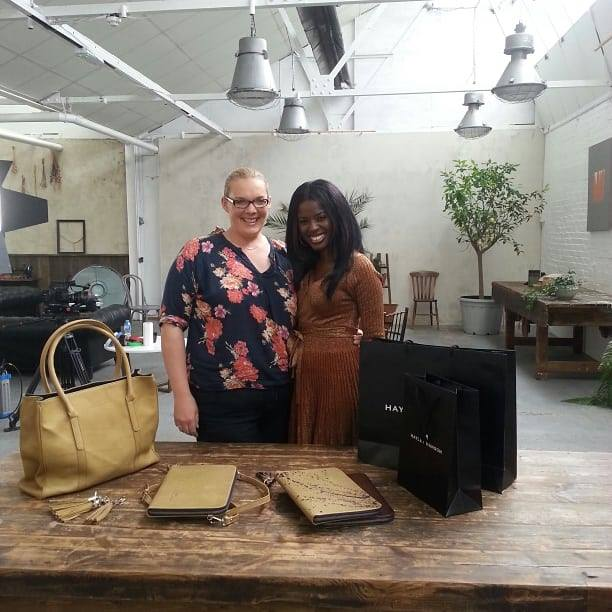 Hayley Hanson films for Huffington Post/NatWest bank with June Sarpong