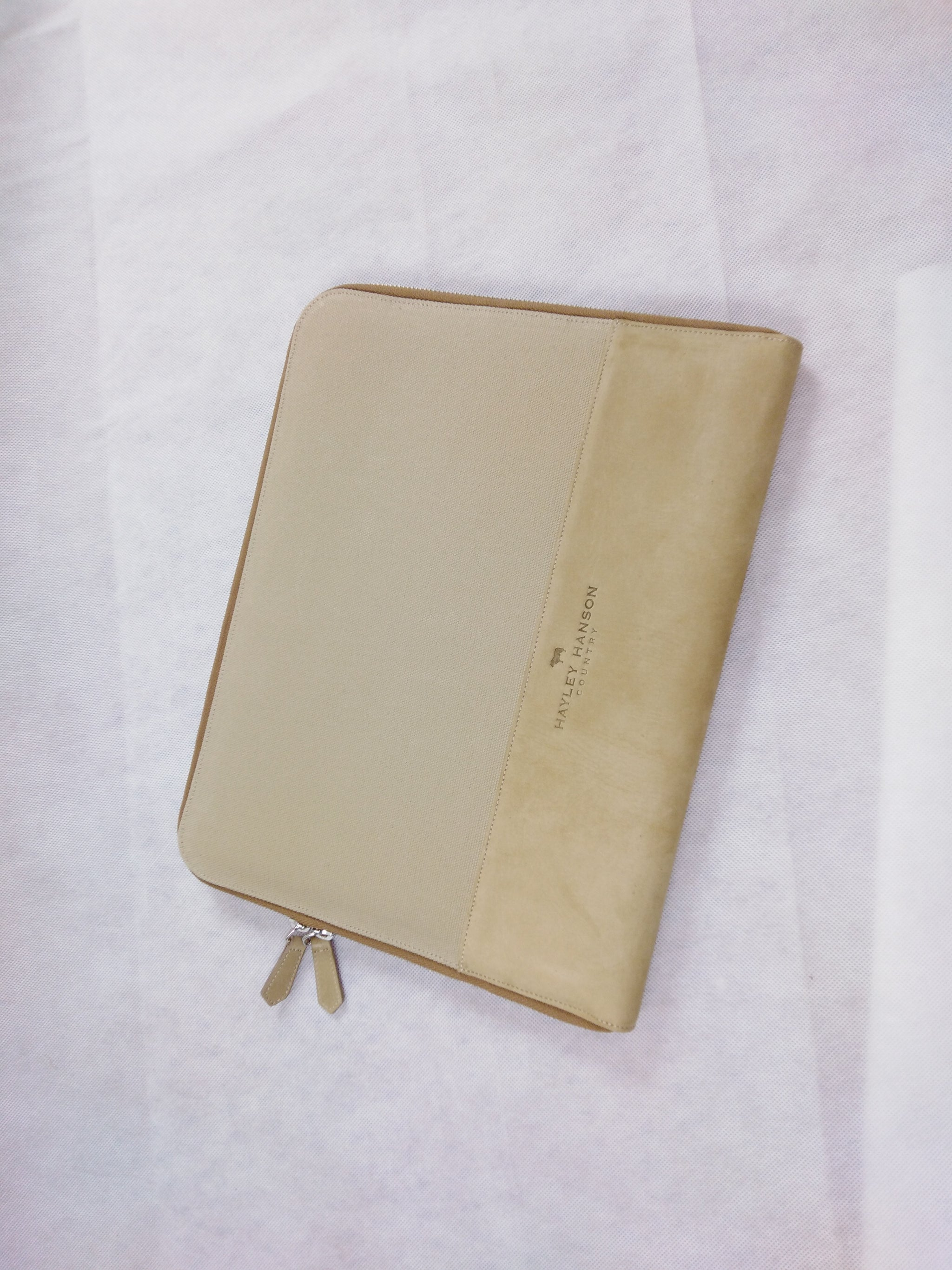 Tredurn leather trimmed zipped Folio