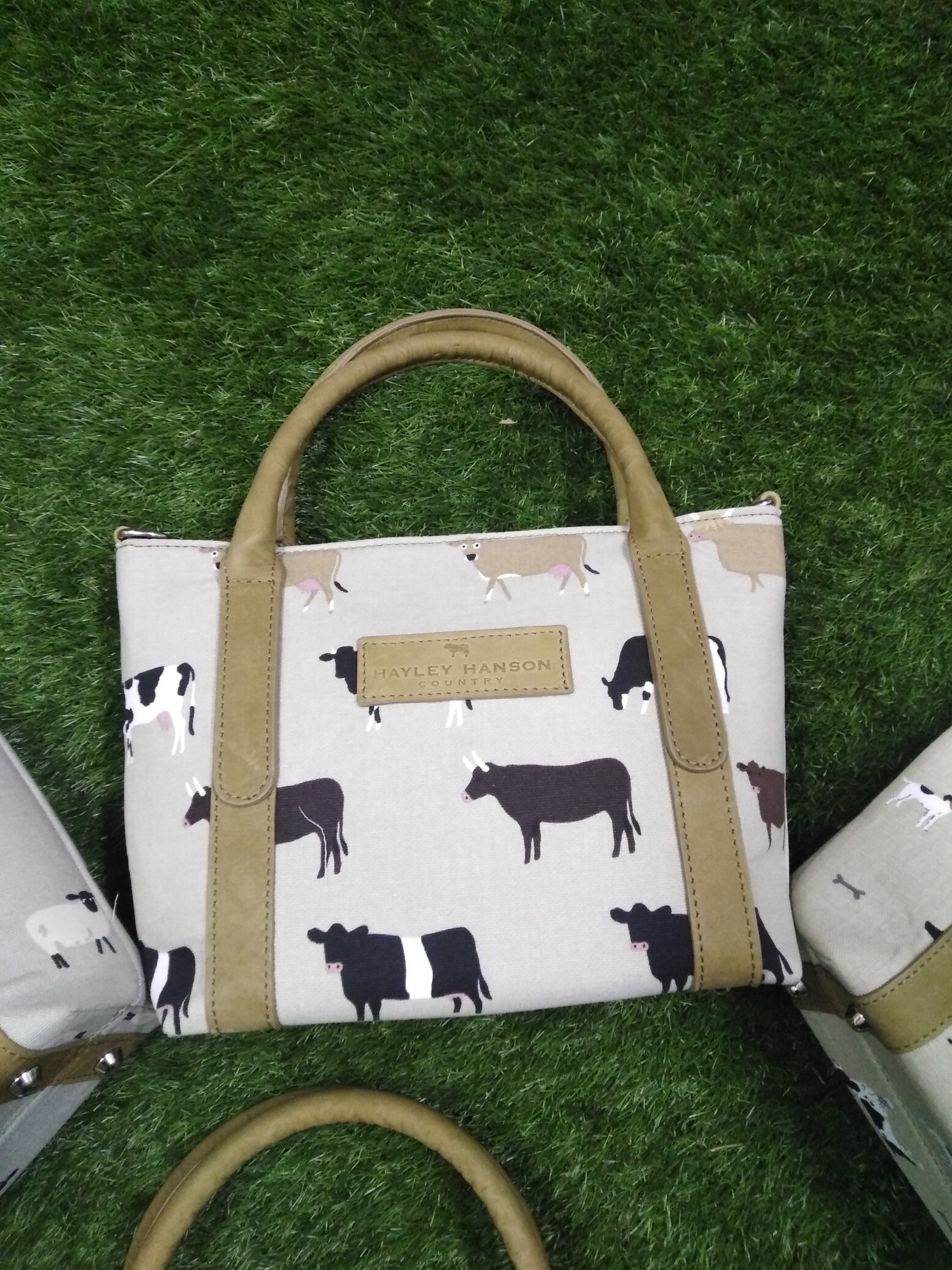 Leather trimmed Brecon small tote inc Ltd edition Sophie Allport fabrics