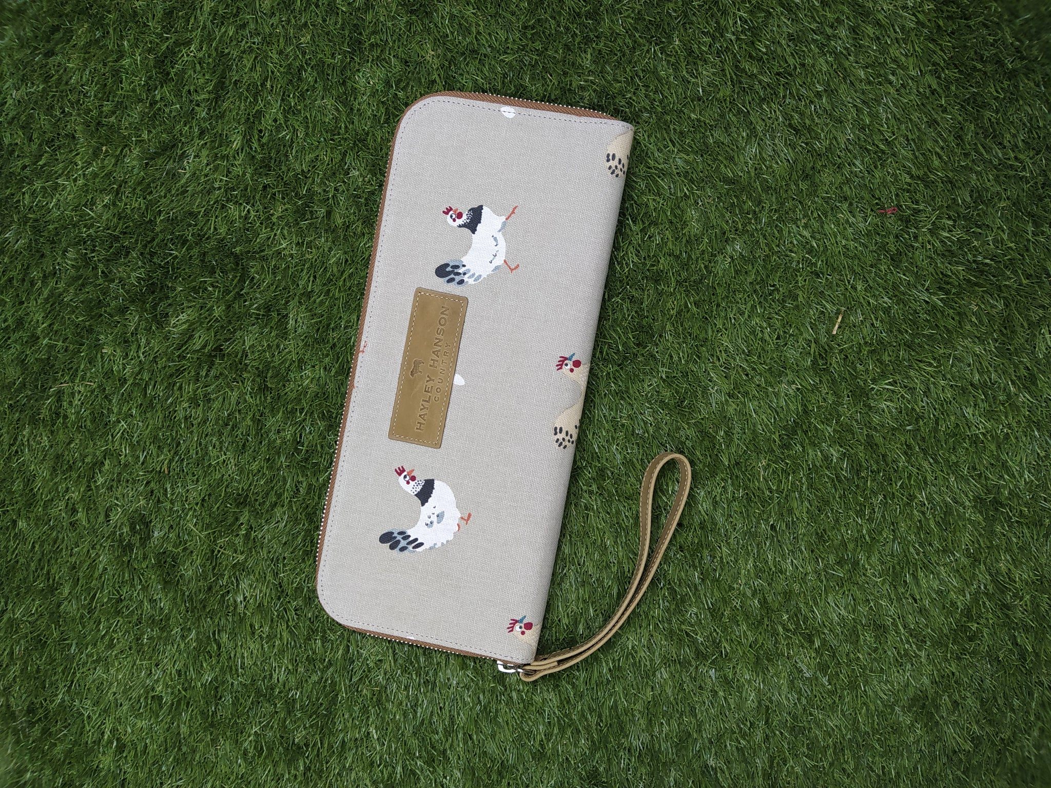Country clutch with wrist strap inc Ltd edition Sophie Allport fabrics