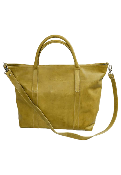 Leather large tote/overnight bag with shoulder strap