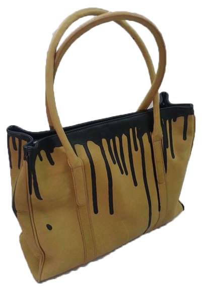 Leather Ellie tote bag - paint finish