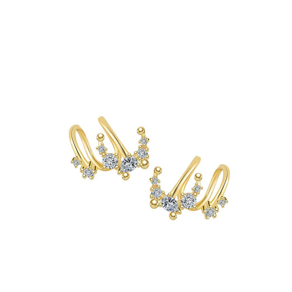Ear cuff Night (plata y oro)