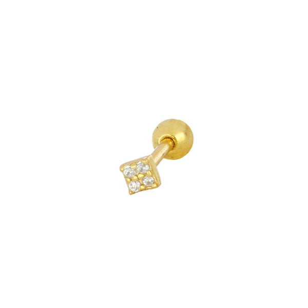 Piercing Mini Brillante (plata y oro)