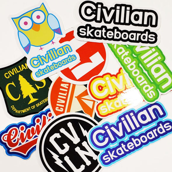 Civilian - Stickers - 10-pk (Assorted)