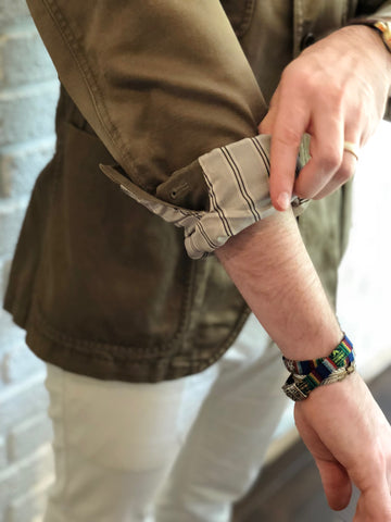 how to roll up sleeves on sports coat