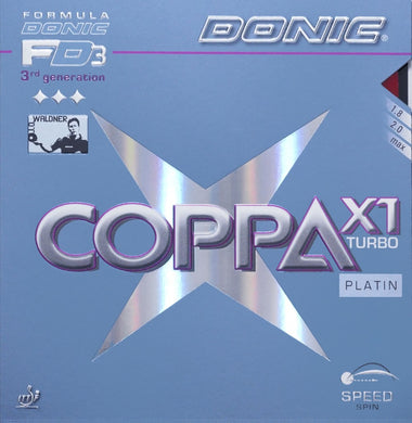 Donic Coppa X1 Turbo Platin - Killypong