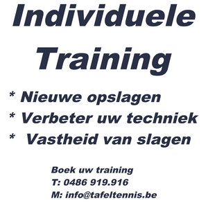 Killypong Individuele training - B speler