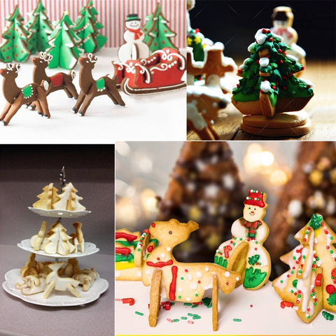 Artistic 3d Christmas Cookie Molds