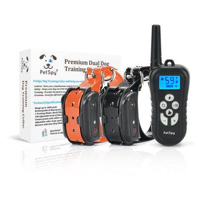 PetSpy M919-2 e-collar and it's package