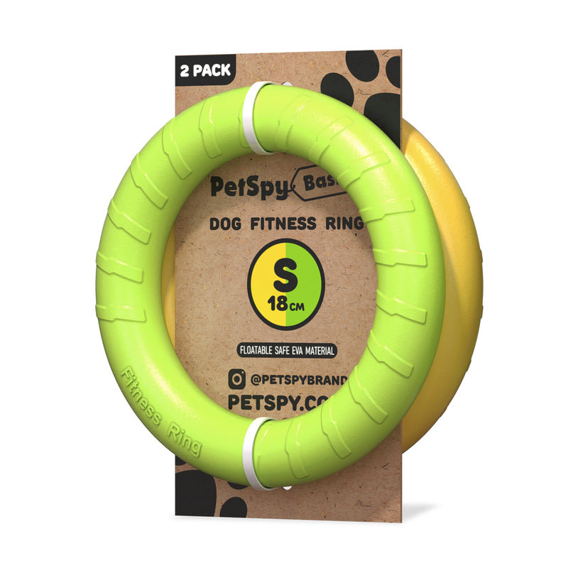 Dog Fitness Ring, Flying Toy for Outdoor Training, 2 pack