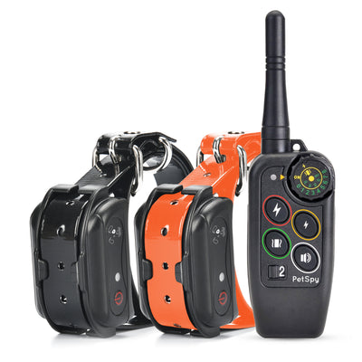 PetSpy M686B Dog Trainer Shock Collar for 2 Dogs with Vibra and Beep, Fully Waterproof Remote Training E-Collars