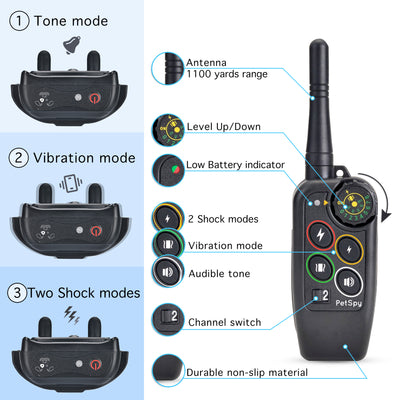 M686B Remote Trainer for 2 dogs, Perfect for Hunting