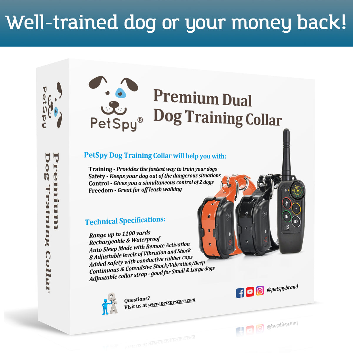 PetSpy M686B box. Well trained dog or your money back!