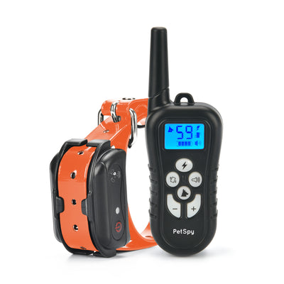 PetSpy M919-1 Premium e-collar with shock vibration and beep