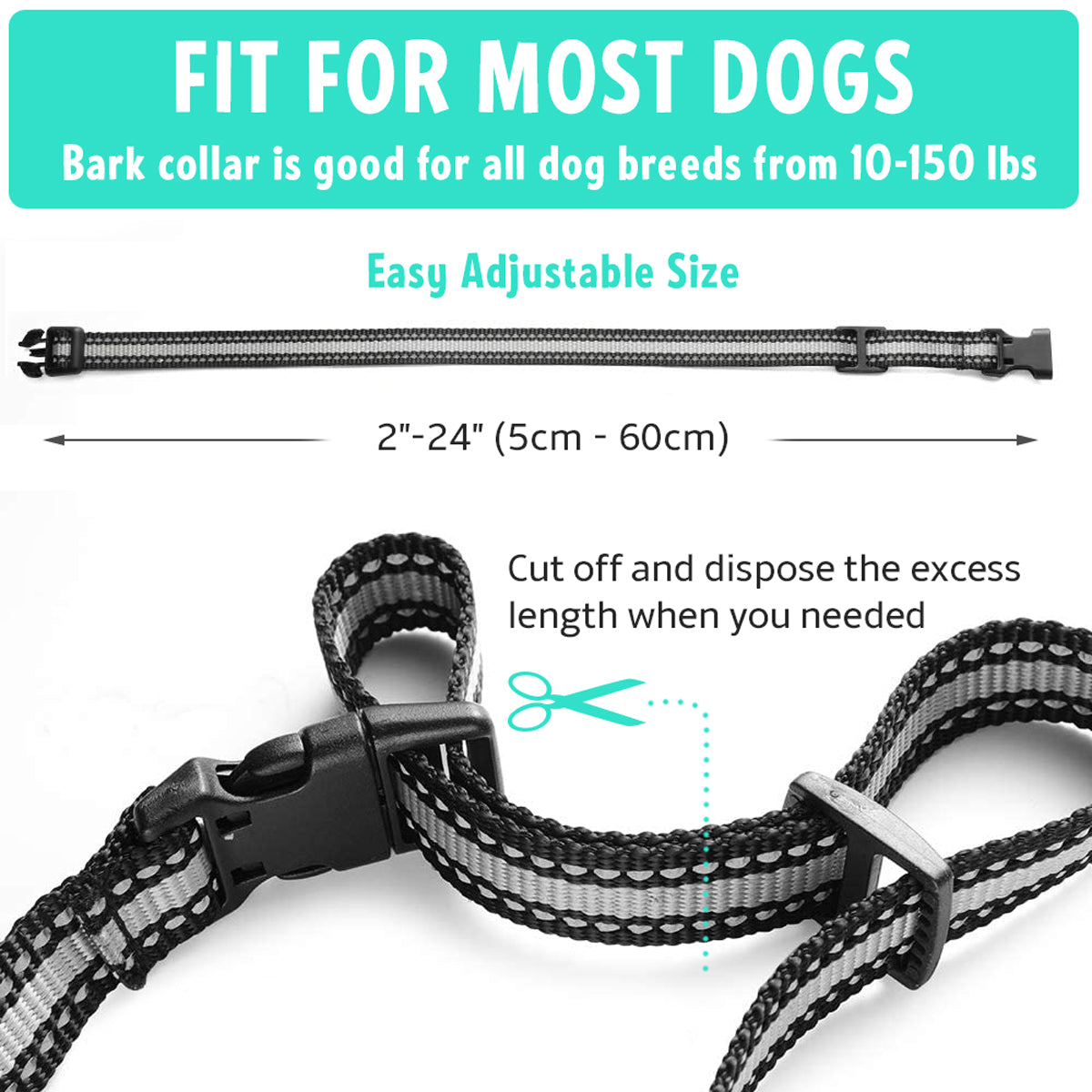 Smart Dog Bark Collar, 3 Training Modes