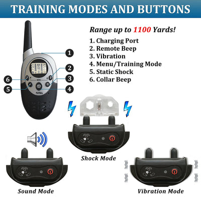 PetSpy M86-1 has a three training modes: beep, vibration and shock