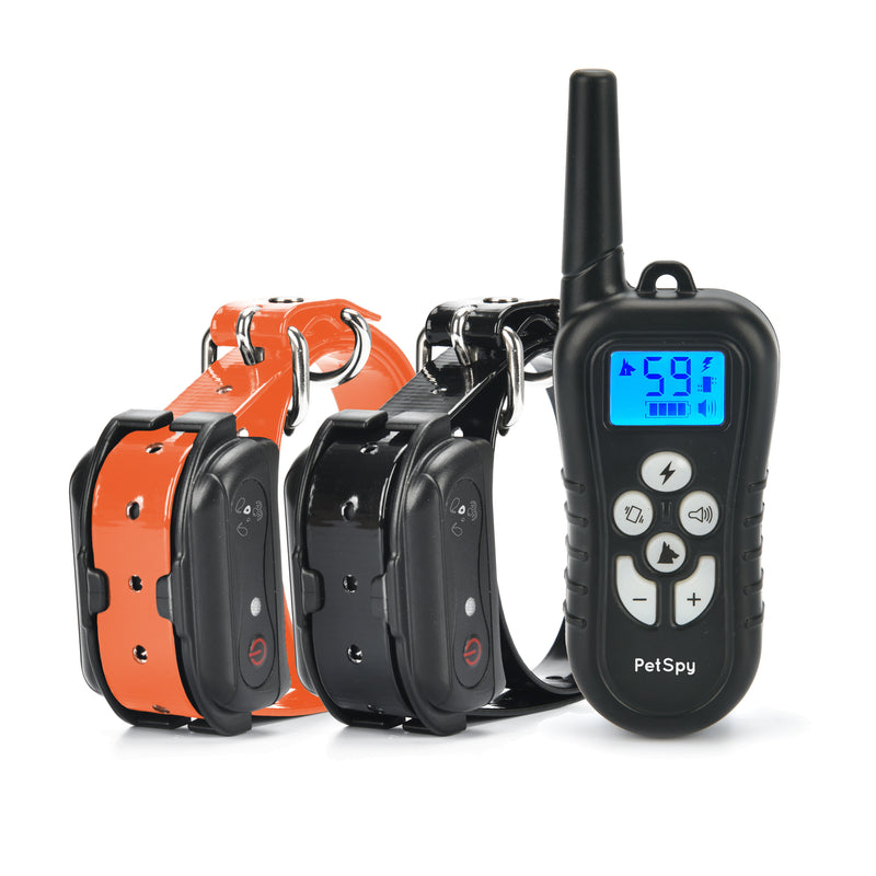 PetSpy M919-2 Premium e-collar with shock vibration and beep for 2 dogs