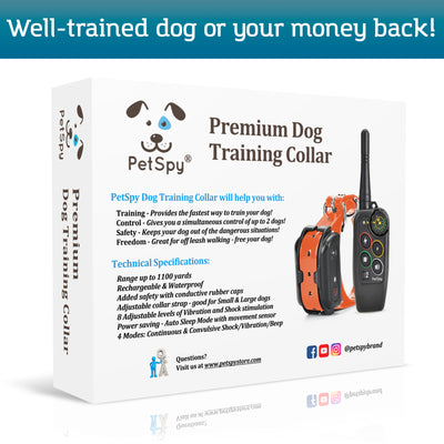 PetSpy M686 box. Well trained dog or your money back!
