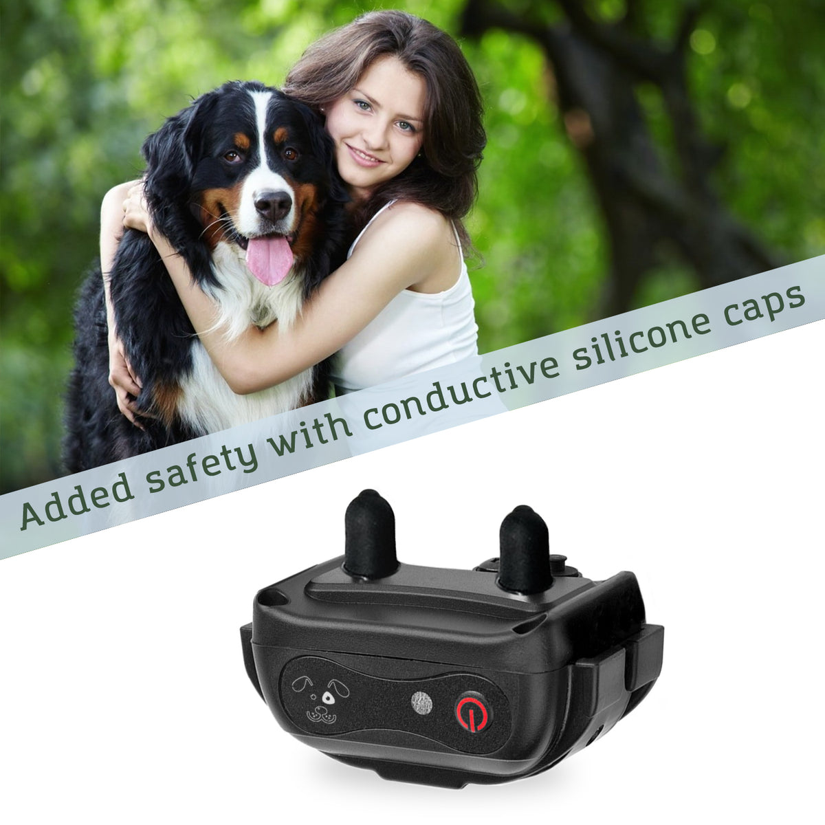 Added safety with conductive silicone caps for PetSpy Xpro X-Pro dog training system