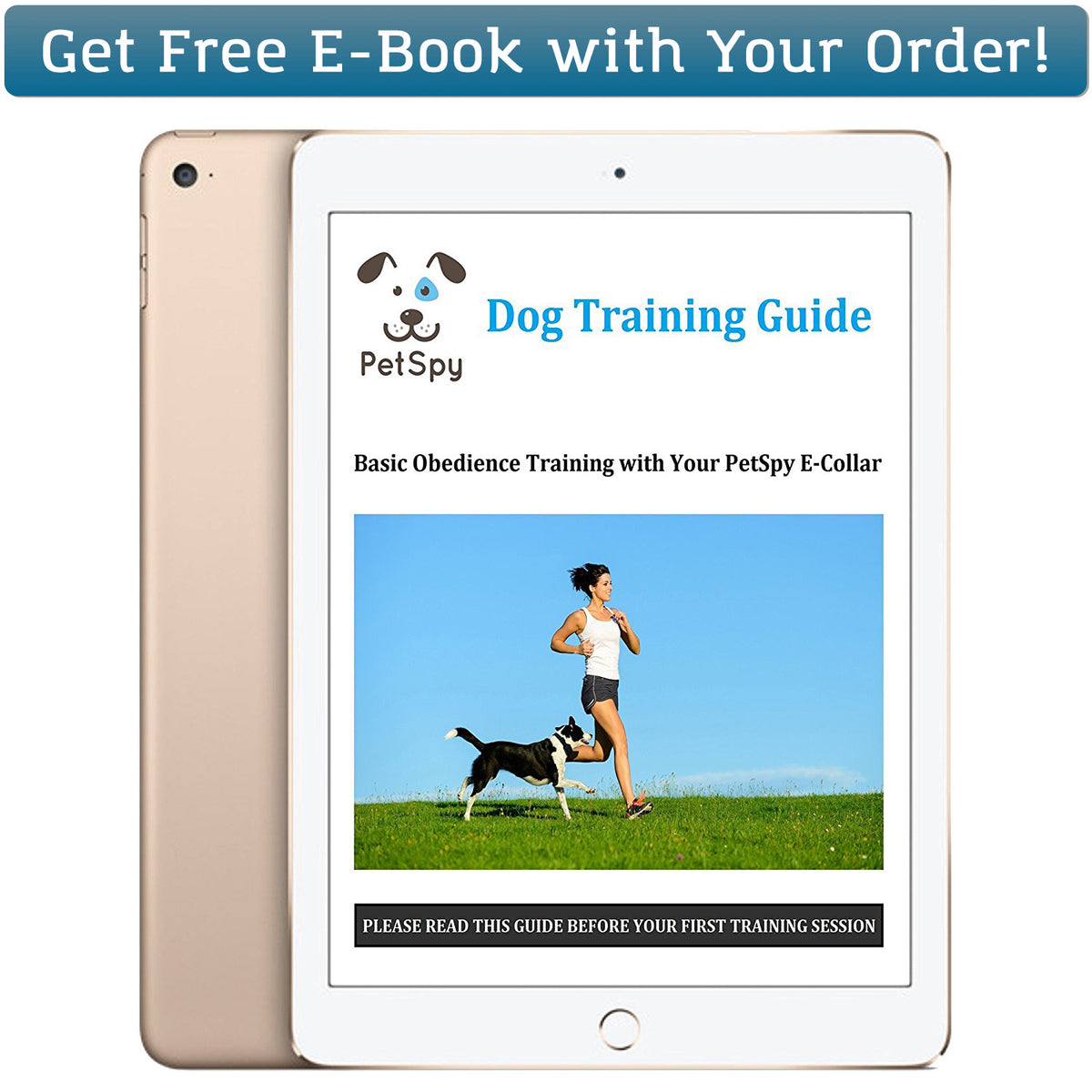 Get free ebook with dog training tips from PetSpy with your order