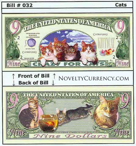Crazy For Cats Novelty Currency Bill