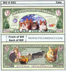 Image of Crazy For Cats Novelty Currency Bill