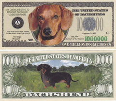 Dachshund Dog Novelty Currency Bill