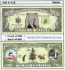 Image of Maine - The Pine Tree State - Commemorative Novelty Bill