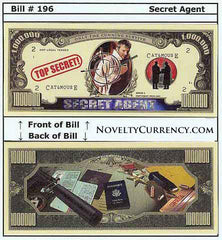 Secret Agent Spy Novelty Currency Bill