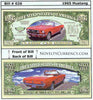 Image of 1965 Ford Mustang Classic Car Novelty Currency Bill
