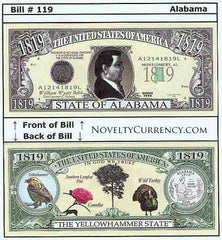 Alabama - The Yellowhammer State - Commemorative Novelty Bill