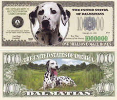 Dalmatian Dog Novelty Currency Bill