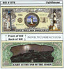 Image of Lighthouse (Light at the End of the Storm) Novelty Currency Bill