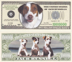 Jack Russell Terrier Dog Novelty Currency Bill