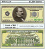 Image of $1,000 Funny Money Novelty Currency Bill