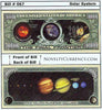 Image of Solar System Novelty Currency Bill