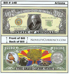 Arizona - The Grand Canyon State - Commemorative Novelty Bill