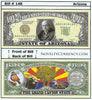 Image of Arizona - The Grand Canyon State - Commemorative Novelty Bill