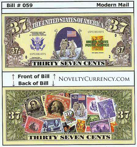 Modern Mail Novelty Currency Bill