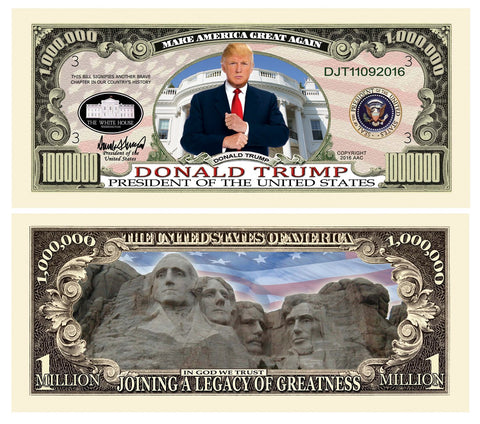 Donald Trump Legacy Of Greatness Novelty Currency Bill