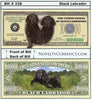 Image of Black Labrador Novelty Currency Bill