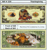 Image of Happy Thanksgiving Novelty Currency Bill