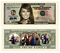 First Lady Melania Trump And Trump Family Novelty Currency Bill